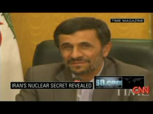 Amahdinejad's smirks as caught off guard