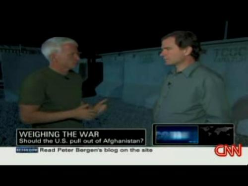 anderson cooper and peter bergen report from Khadaran