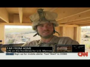 anderson cooper speaks to a marine
