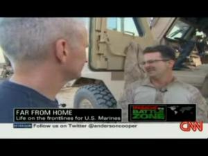 anderson cooper TALKS TO A MARINE afghanistan 2009