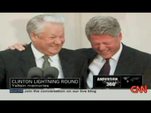 Bill Clinton and Yeltsin