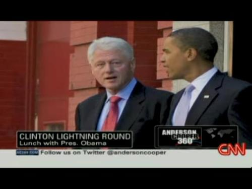 Bill Clinton on giving advice to Obama on going gray