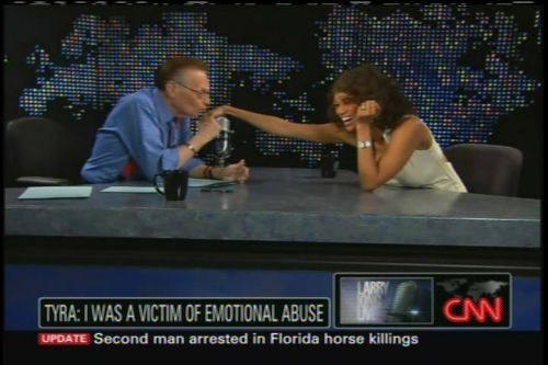 Larry King and Tyra Banks