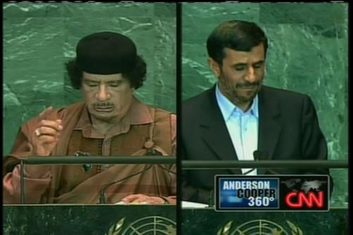 Gadhafi and Ahmadinejad