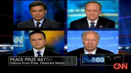 Panel discusses Obama's Nobel Peace Prize: Fareed, Paul, David & Nigel