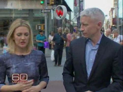 Drew Barrymore talks to Anderson Cooper